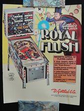 Flyer Publicité Royal Flush Flipper Pinball Gottlieb collection jeux café
