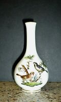 Vintage Herend Hungary Porcelain Rothschild Bird Miniature Vase Handpainted