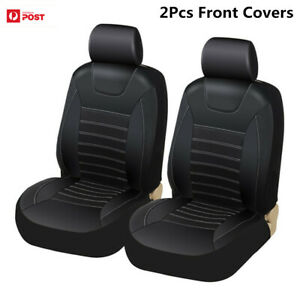 Soft PU Leather Car Seat Covers Airbag Compatible for Car SUV Seat Protector Blk