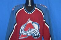 vintage 90s COLORADO AVALANCHE STARTER SEWN ON PATCHES HOCKEY JERSEY XL