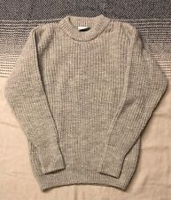Black Sheep Knitwear naturally oiled beige/grey sweater in size M