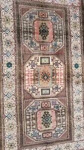 """Beautiful Vintage 1950-1960s Natural Dye Wool Pile Kayseri Runner Rug 3'3""""×6'"""