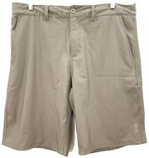 Valor Collective Mens Casual Shorts Size 33 Herringbone Stripe Flat Front Brown