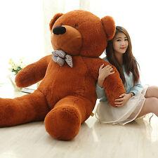 1.4M Teddy Bear Giant Huge Cuddly Stuffed Plush Animal Doll Brown Christmas Gift