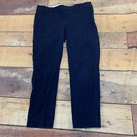 J. Crew Womens Dress Pants Slacks Capris Size 8 Navy Blue H206