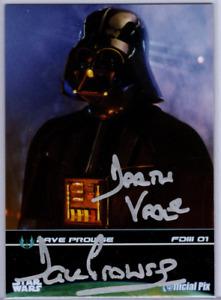 2009 Official Pix Star Wars Fan Days David Prowse Autograph Card Darth Vader ROJ
