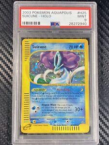 PSA 9 MINT Aquapolis Suicune Holo #H25 Pokemon Card TCG 2003 Pokémon WOTC