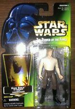 Star Wars POTF green card figure lot Han Solo in Carbonite Hologram & Greedo