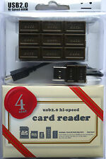 (PRL) CHOCCO CARD READER ALL IN ONE LETTORE SCHEDE MEMORIE CIOCCOLATA USB 2 HIGH
