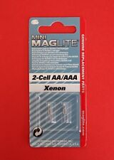 "MAGLITE Pack of 2 Xenon Bulbs for 2-Cell AA & 2-Cell AAA Torch ""NEW & SEALED"""