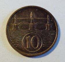 Tschechoslowakei - 10 Heller - 1922 - 1. Republik - st / unc