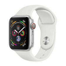 Apple Watch Series 4 44mm Aluminiumgehäuse in Silber mit Sportarmband in Weiß (GPS + Cellular) - (MTVR2FD/A)