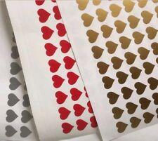 100 Hearts - Glitter Wine GLASS VINYL STICKERS / DECAL Valentine's Birthday Etc.