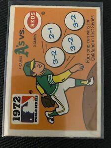 Fleer - A's vs Reds 1972 World Series - Expos Sticker -