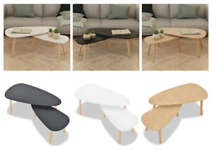 Solid Wood Coffee Table Nesting Table Side Living Room or Lounge Room – 2 Pcs