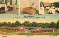 1940s Magnolia Motor Hotel Roadside Interior Vicksburg Mississippi MWM 5859