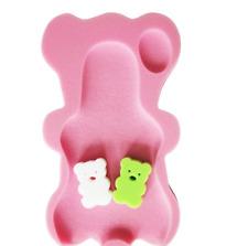 Baby Infant Soft Bath Sponge Seat #01 Cute Bear Anti-Slip Foam Pad Mat Body Supp
