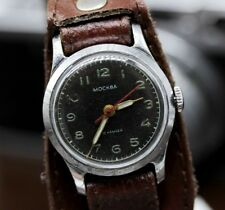 MOSKVA 1950s vintage Russian Soviet mechanical watch Moscow Military USSR 1Q1956