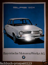 GLAS 1304  PROSPEKT 1967 BMW BAYERN OLDTIMER LIMOUSINE CL 1000CCM