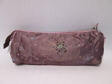 Púrpura de perlas para cosméticos y maquillaje Lapiz Pluma Pincel Funda Estuche Bolso # 2f1