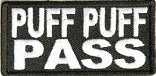 "Puff Puff Pass Iron On Patch 3"" x 1.5"" Stoner Weed Marijuana P3174 Free Shipping"
