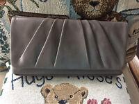 Hobo International Darla Leather Wristlet Clutch - Granite