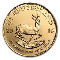 Pièce or Krugerrand 1/4 once Afrique du Sud 1/4 oz Gold coin South Africa