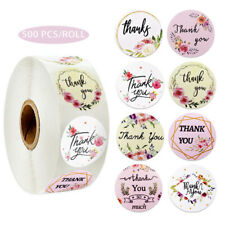 500pcs/roll round floral thank you stickers for package seal labels WF
