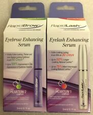 SET Rapidlash Eyelash & RapidBrow Eyebrow Enhancing Serum 3ml/.1 OZ SEALED N BOX