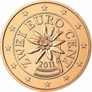 [#699477] Autriche, 2 Euro Cent, 2011, FDC, Copper Plated Steel, KM:3083