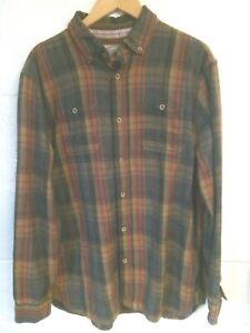 "Mantaray brown, grey & red check shirt L/42""-44""chest"