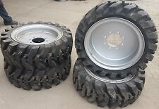 (4- tires with wheels) solid 33x12-20 / 12-16.5 Skid-steer loader tire 331220