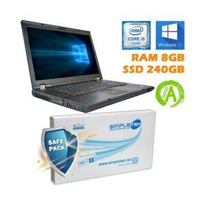 """Ordinateur Portable Lenovo THINKPAD T520 I5 2520M 15,6 """" RAM 8GB SSD 240GB"""