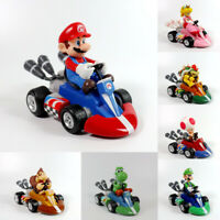 Super Mario Mini Kart Pullback Figure Collectable Doll Toy Kids Birthday Gift