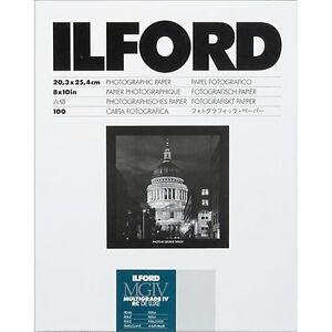 Ilford Multigrade IV RC DLX 8 x 10 Pearl 100 Sheets Black & White Paper 1771318