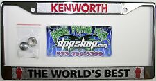 Kenworth KW worlds best license plate frame tag holder truck semi auto chrome