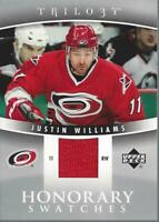 2006-07 Upper Deck Trilogy Honorary Swatches #HSJW Justin Williams Jersey