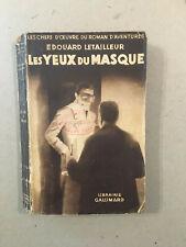 Édouard Letailleur - Les yeux du masque  -Les chefs d'?uvre du roman d'aventures