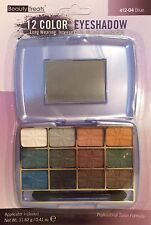 Beauty Treats 12 Color Eyeshadow with Mirror Blue