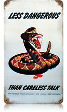Dangerous Snake Metal Sign - Hand Made in the Usa with American Steel