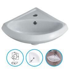 Bathroom Cloakroom Ceramic 1 Tap Hole Compact Small Mini Corner Wash Basin Sink