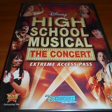 High School Musical: The Concert - Extreme Access Pass (DVD, 2007) NEW Disney