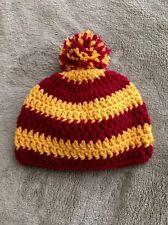Crochet Harry Potter Inspired Gryffindor Baby Hat Beanie Cap Handmade Newborn
