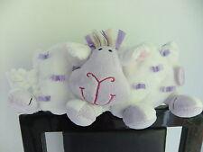 "5"" JELLY KITTEN CAT MAUVE WHITE RAG BOOK STORY SHEEP LAMB SOFT TOY TEDDY BABY"