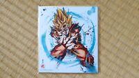 Dragon Ball Z Son Goku Super Saiyajin Shikishi Art DBZ Carte Songoku SSJ