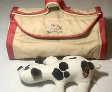 VIntage 1986 Pound Puppies Newborns Kennel Case + 1 White Puppy Brwn Spots Tonka