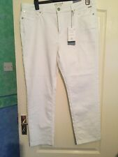 Per Una - M&S - Marks and Spencer -Slim Leg White Jeans Size 18 short BNWT