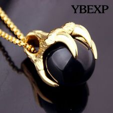 Men's  Fashion Jewelry Gold Silver Dragon Claw Stainless Steel Pendant Necklace