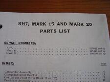 MERCURY OUTBOARD PARTS KH-7 * MARK 15 * 20 PARTS MANUAL
