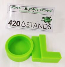 Nogoo / 420 Stands Green Station Holding Small Container & Scraper Non Stick